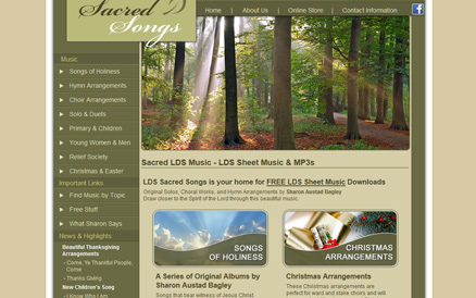 lds sacred songs website